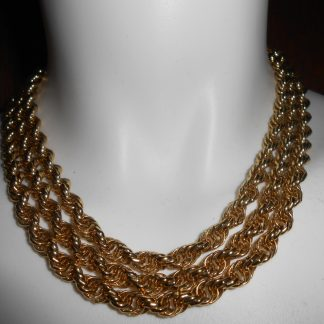 Vintage Monet Long Gold Toned necklace