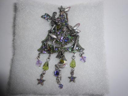 Kirks Folly Christmas Tree Fairy Pin