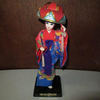 vintage geisha figurine in kimono
